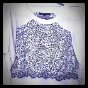 Sheer 3/4 sleeve lightweight dress Blouse